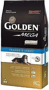 Ração Golden Mega Adultos Frango e Arroz