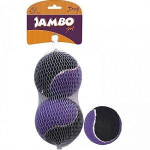 Brinquedos Para Cachorro Bola Tênis Média Sound Kit Com 2