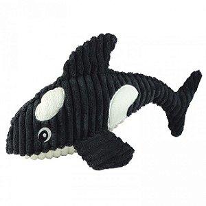 Brinquedos Para Cachorro Mordedor Pelúcia Orca Som Nadadeiras