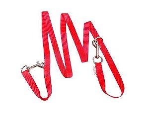 Guia Para Cachorro Cooper Prende na Cintura Vermelho