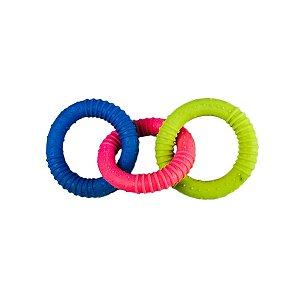 Brinquedos Para Cachorro Mordedor Argolas Coloridas