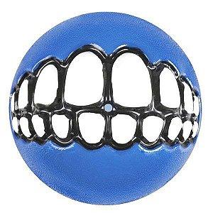 Brinquedo Para Cachorro Bola Sorriso Grinz Rogz Azul M