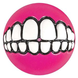 Brinquedo Para Cachorro Bola Sorriso Grinz Rogz Rosa P