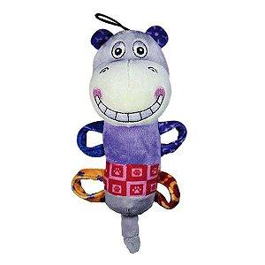 Brinquedo Para Cachorro Mordedor Pelúcia Plush Smile Hippo