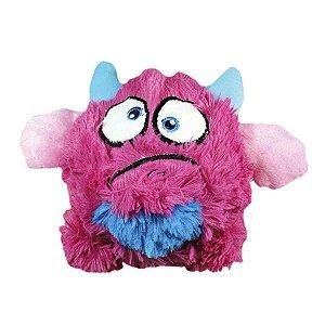 Brinquedos Para Cachorro Bola Monstro Pelúcia Rosa
