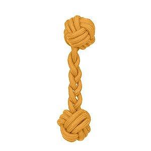 Brinquedos Para Cachorro Bolas de Corda Osso Laranja
