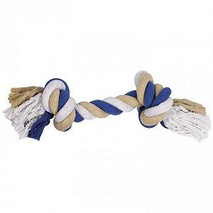Brinquedo Para Cachorro Corda Dental Bone Azul