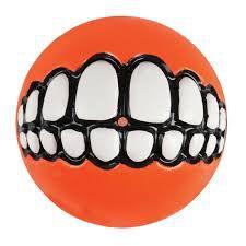 Brinquedo Para Cachorro Bola Sorriso Grinz Rogz Laranja G