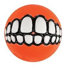 Brinquedo Para Cachorro Bola Sorriso Grinz Rogz Laranja P