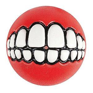Brinquedo Para Cachorro Bola Grinz Rogz Vermelha P