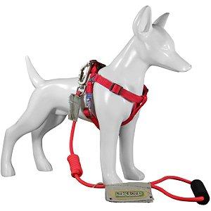 Peitoral e Guia Para Cachorro Au Vermelho