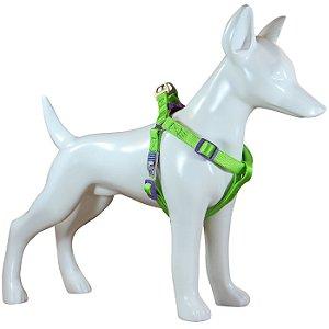 Peitoral Para Cachorro Au Neon Verde