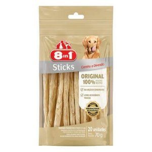 Osso Para Cachorro Petisco 8in1 Sticks Natural