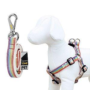 Peitoral e Guia Para Cachorro Number One Pride