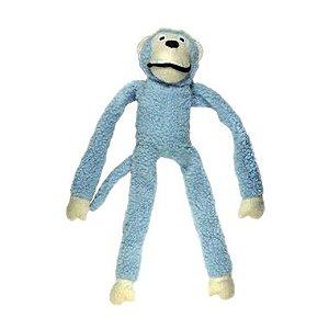 Brinquedo Para Cachorro Mordedor Pelúcia Macaco Azul