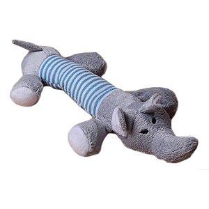 Brinquedo Para Cachorro Pelúcia Elefante Plush Som