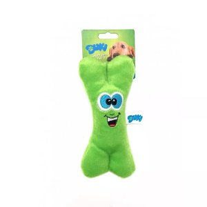 Brinquedo Para Cachorro Pelúcia Ossinho Verde Duki
