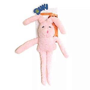 Brinquedos Para Cachorro Pelúcia Coelho Rosa Duki