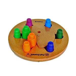 Brinquedos Para Pets Tabuleiro Roleta Pet Games