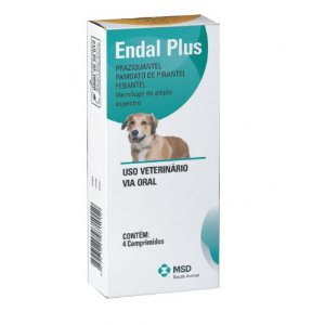 Vermífugo Endal Plus 4 Comprimidos