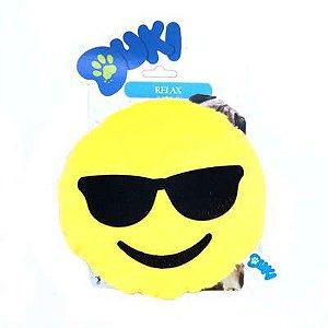 Brinquedos Para Cachorro Pelúcia Emoticon Óculos Escuros