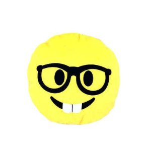 Brinquedos Para Cachorro Pelúcia Emoticon Nerd