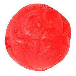 Brinquedos Para Cachorro Bola Porta Petisco Macaquinho Vermelha G
