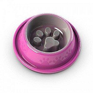 Comedouro Lento Coma Melhor Facility Rosa
