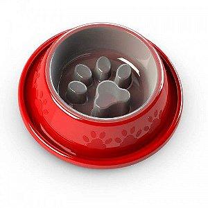 Comedouro Lento Coma Melhor Facility Vermelho