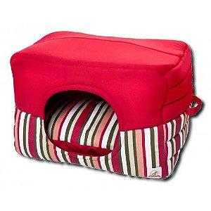 Cama Para Cachorro Toca Luxo Vermelha G