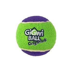 Brinquedos Para Cachorro Bola Tênis Gigwi Grande Verde e Roxo