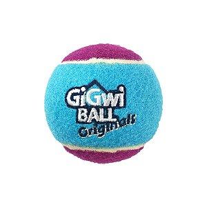 Brinquedos Para Cachorro Bola Tênis Gigwi Grande Azul e Rosa