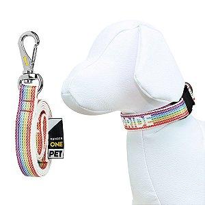 Coleira e Guia Para Cachorro Number One Pride