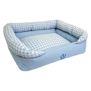 Cama Para Cachorro São Pet Verona Jacquard Azul