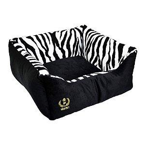 Cama Para Cachorro São Pet Velboa Zambia Zebra