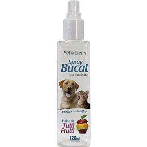 Spray Bucal Para Cachorro Pet Clean Para Mau Hálito Tutti- Frutti