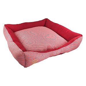 Cama Para Cachorro São Pet Safira Vermelha G