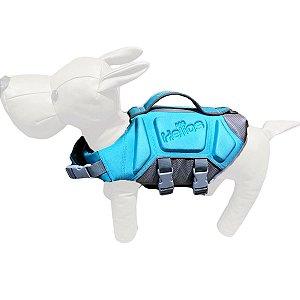 Peitoral Colete Salva Vidas Para Cachorro Dog Helios Azul