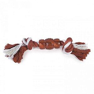 Brinquedo Para Cachorro Corda Rubber Bone Vermelho