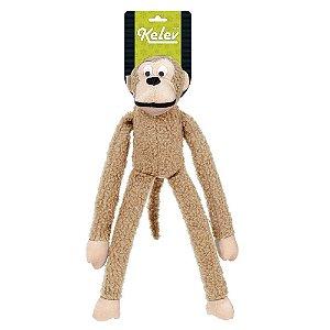 Brinquedo Para Cachorro Mordedor Pelúcia Macaco Marrom