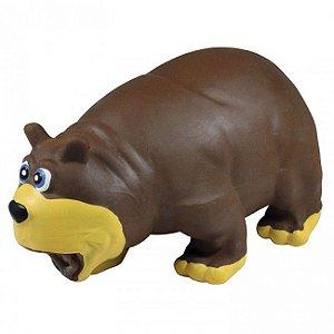 Brinquedo Para Cachorro Mordedor Urso Látex Marrom