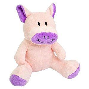Brinquedo Para Cachorro Pelúcia Porquinho Rosa