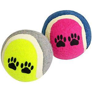 Brinquedos Para Cachorro Bola Tênis Azul e Verde