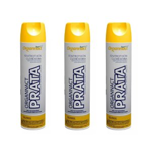 Organnact Prata Spray Antibacteriano 500ml Kit 3