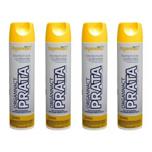 Organnact Prata Spray Antibacteriano 500ml Kit 4