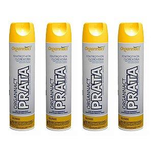 Organnact Prata Spray Antibacteriano 500ml Kit 4