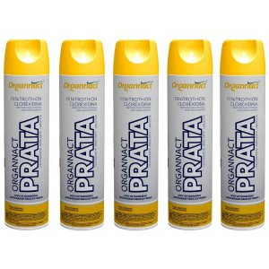 Organnact Prata Spray Antibacteriano 500ml Kit 5