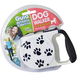 Guia Retrátil Para Cachorros Dog Walker Branca