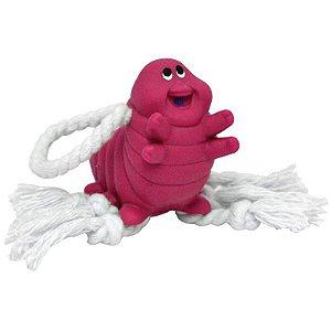 Brinquedos Para Cachorro Lagarta Com Corda Rosa