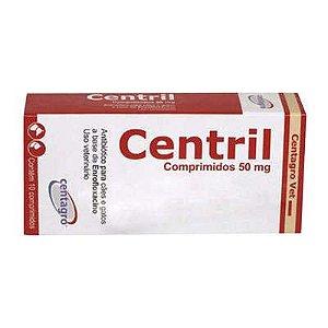 Antibiótico Para Cães e Gatos Centagro Vet Centril 50 mg